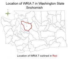 Location of WRIA 7 in Washington State