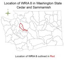Location of WRIA 8 in Washington State