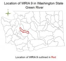 Location of WRIA 9 in Washington State