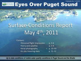 Eyes Over Puget Sound: Surface Conditions Report - May 4, 2011