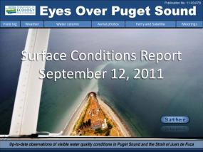 Eyes Over Puget Sound: Surface Conditions Report - September 12, 2011