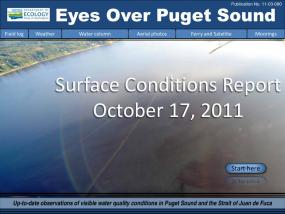 Eyes Over Puget Sound: Surface Conditions Report - October 17, 2011