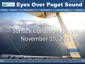 Eyes Over Puget Sound: Surface Conditions Report - November 15, 2011