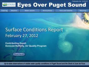 Eyes Over Puget Sound: Surface Conditions Report - February 27, 2012