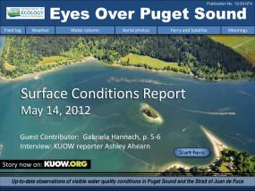 Eyes Over Puget Sound: Surface Conditions Report - May 14, 2012