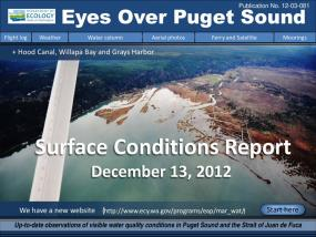 Eyes Over Puget Sound: Surface Conditions Report - December 13, 2012