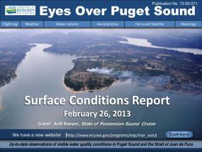 Eyes Over Puget Sound: Surface Conditions Report - February 26, 2013