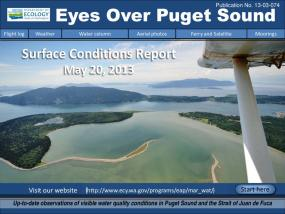 Eyes Over Puget Sound: Surface Conditions Report - May 20, 2013