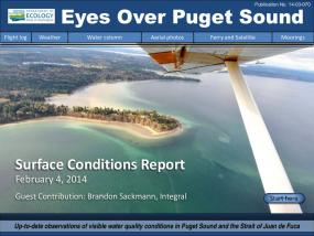 Eyes Over Puget Sound: Surface Conditions Report - February 4, 2014