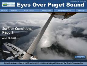 Eyes Over Puget Sound: Surface Conditions Report - April 21, 2014