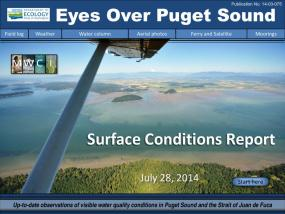 Eyes Over Puget Sound: Surface Conditions Report - July 28, 2014