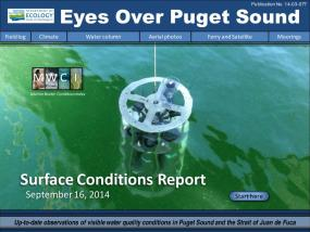 Eyes Over Puget Sound: Surface Conditions Report - September 16, 2014