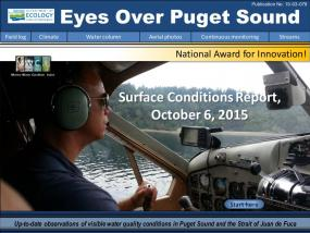 Eyes Over Puget Sound: Surface Conditions Report – October 6, 2015
