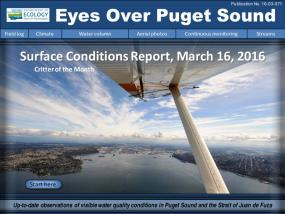 Eyes Over Puget Sound: Surface Conditions Report – March 16, 2016