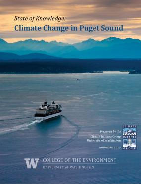 Report cover for State of Knowledge: Climate Change in Puget Sound