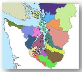 Puget Sound drainage area. Image courtesy of the Washington Department of Ecology.
