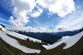 Snowmelt on Hurricane Ridge, Olympic Mountains, WA. Photo: Beth Jusino (CC BY-NC 2.0) https://flic.kr/p/9WRS8J