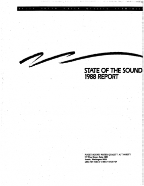 State of the Sound 1988 report cover image