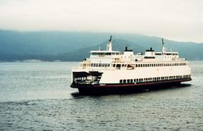 Ferry in Puget Sound. Image courtesy of NOAA.