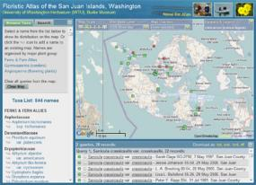 Floristic Atlas of the San Juan Islands, Washington screesnhot