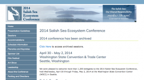 Screenshot of archived SSEC 2014 website at http://www.wwu.edu/salishseaconference/archived/2014/