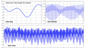 A screenshot of tidal fluctuations in Puget Sound. Image courtesy of University of Washington Coastal Modeling Group