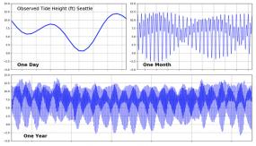A screenshot of tidal fluctuations in Puget Sound. Image courtesy of University of Washington Coastal Modeling Group