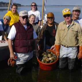 Celebrating a community harvest at Drayton Harbor. Photo: Jack Kintner
