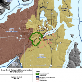 Gorst Creek Watershed Characterization, regional context map 2-1