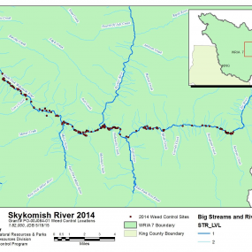 Appendix 5. Map of Skykomish/Tye River Control Locations 2014