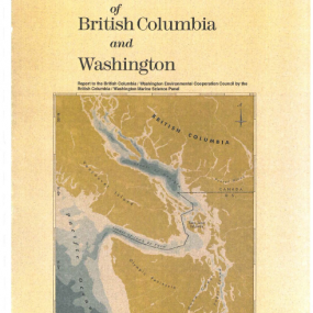 The shared marine waters of British Columbia and Washington report cover