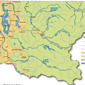 King County map, showing incorporated land and major water bodies. Copyright King County.