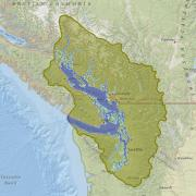 Screenshot of Salish Sea boundary map on ArcGIS.com