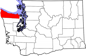 Location of Clallam County in Washington State