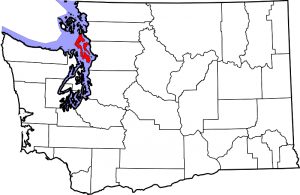 Location of Island County in Washington State