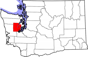 Location of Mason County in Washington State