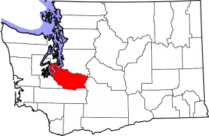 Location of Pierce County in Washington State