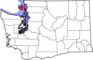 Location of San Juan County in Washington State