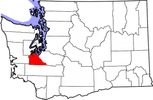Location of Thurston County in Washington State