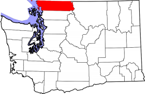 Location of Whatcom County in Washington State