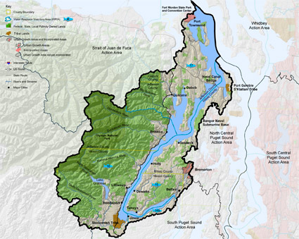 Hood Canal Action Area map