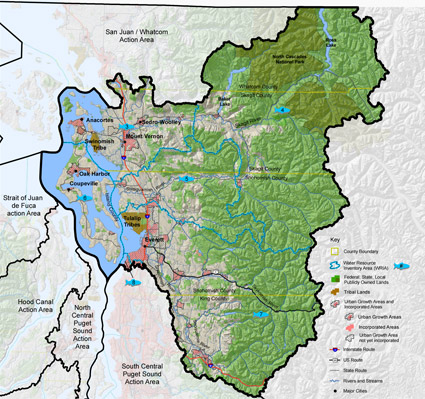 Whidbey Basin Action Area map