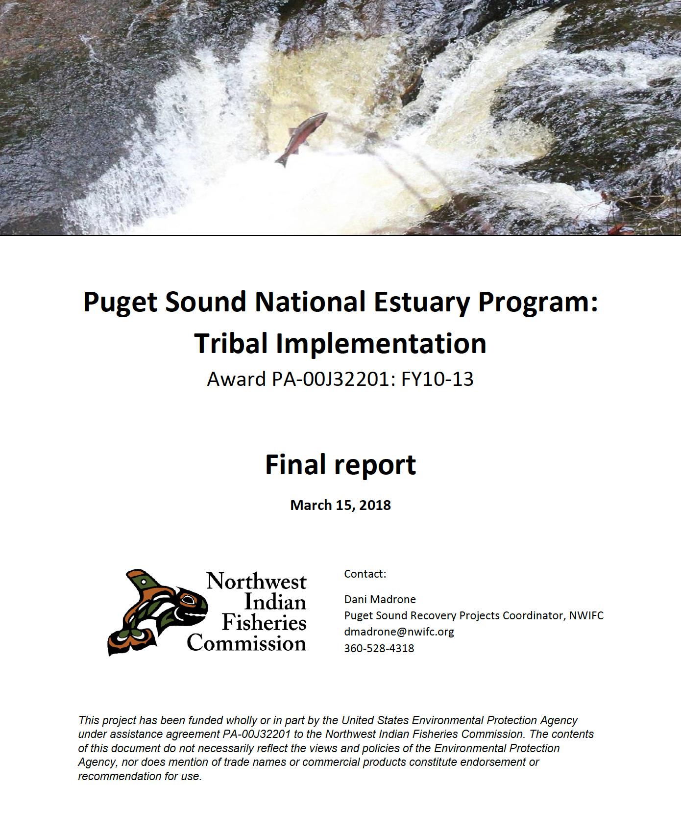 Puget Sound National Estuary Program: Tribal Implementation