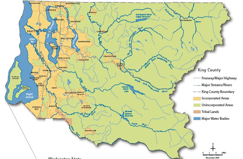 The North Cascades Ecoregion Encyclopedia Of Puget Sound - Map of northeast us bodies of water
