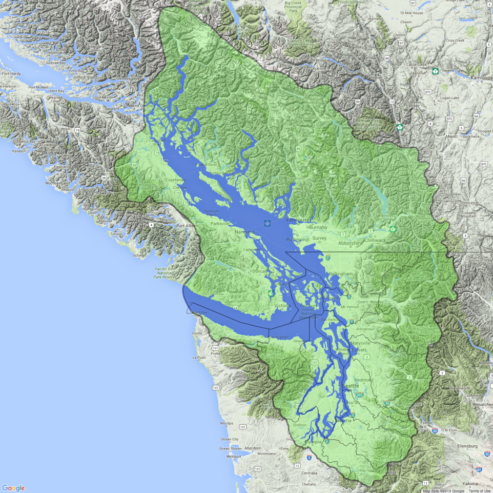 Geographic boundaries of puget sound and the salish sea salish sea freerunsca Image collections